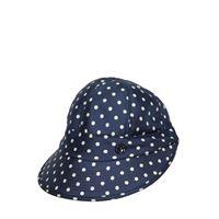 MAISON MICHEL cappello in seta stampata con visiera