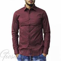 Altri Designer camicia uomo maniche lunghe casual cotone pois bottoni slim