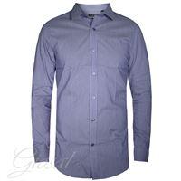 Altri Designer camicia uomo bottoni righe colletto azzurra manica lunga casual