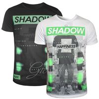 Happiness t-shirt uomo Happiness due colori stampa scritta girocollo casual