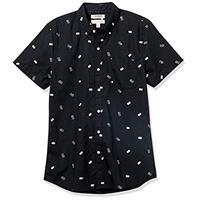 Goodthreads marchio amazon - Goodthreads, camicia a maniche corte in popeline stampato, da uomo, slim fit, popsicle, us m tall (eu m)