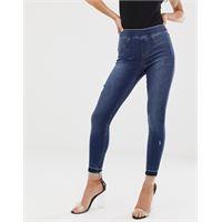 Spanx - jeans skinny push-up modellanti effetto invecchiato-blu
