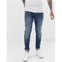 G-Star - 3301 - jeans slim lavaggio invecchiato medio-blu