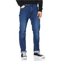 Lee brooklyn straight jeans, deep pool trq, 32w / 34l uomo