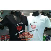 MOTORRACE maglietta lady i love my biker MOTORRACE