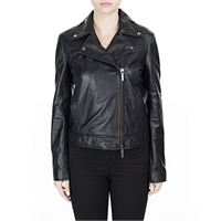 ARMANI EXCHANGE perforated real sheep leather bomber, nero (black 1200), medium donna