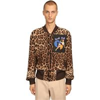 DOLCE & GABBANA bomber leopard con patch