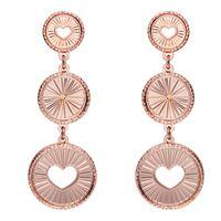 Stroili orecchini pendenti cuore e raggi bronzo rosato