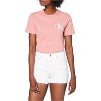 Calvin Klein high rise short shorts, blu (da071 bleached blue 1aa), 33w donna