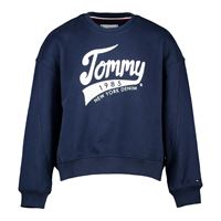 TOMMY HILFIGER felpa girocollo logo tommy 1985 bambina