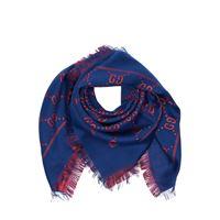 GUCCI sciarpa in misto lana e lurex jacquard