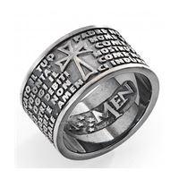 Amen padre nostro anello pnb925-18 gioiello unisex anello argento