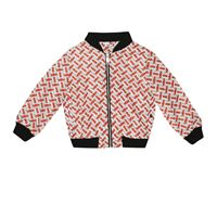 Burberry Kids bomber a stampa logo