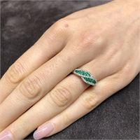 Crivelli anello fascia smeraldo 0,54 diamanti 0,20 crivelli