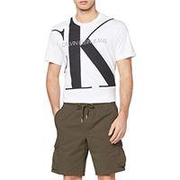 Calvin Klein simple washed cargo short shorts, grigio (abstract grey pp3), w31 (taglia produttore: ni31) uomo