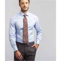 Lanieri camicia da uomo su misura, canclini, icon azzurra popeline, quattro stagioni