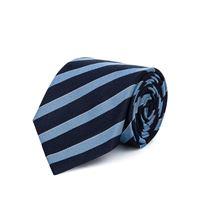 Lanieri cravatta su misura, Lanieri, regimental seta blu azzurra, quattro stagioni | Lanieri