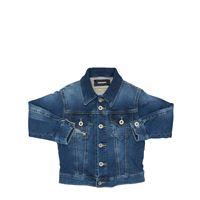 DIESEL KIDS giacca in cotone effetto denim stretch