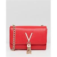Valentino by Mario Valentino - divina - borsa a tracolla a battente rossa con nappa-rosso