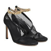 Bottega Veneta sandali in mesh e pelle