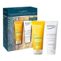 Biotherm kit lait solaire & lait corporel - cofanetto best-seller