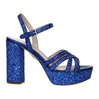 Miu Miu sandali donna paillettes blu 37