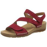 Gabor shoes Gabor jollys, sandali con cinturino alla caviglia donna, rosso (rubin 35), 41 eu