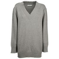 ALEXANDER WANG maglione donna 4k286020m7030 cotone grigio