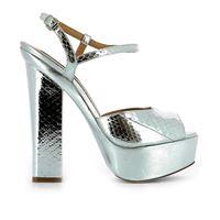 DSQUARED2 sandali donna s17c50612102137 pelle argento