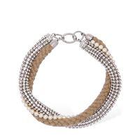 MIU MIU collana con cristalli e perle d'imitazione