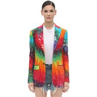 R13 giacca in lino tie dye