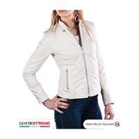 Leather Trend Italy violetta bis - giacca donna in vera pelle colore beige morbida