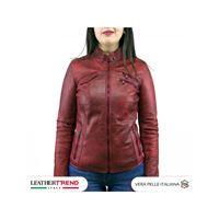 Leather Trend Italy michelina - giacca donna in vera pelle colore nero morbida