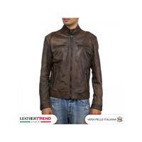 Leather Trend Italy avatar - giacca uomo in vera pelle colore testa di moro morbido