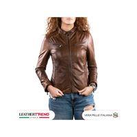 Leather Trend Italy vanessa - giacca donna in vera pelle colore cuoio invecchiato