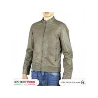 Leather Trend Italy u08 - giacca uomo in vera pelle colore fango invecchiato
