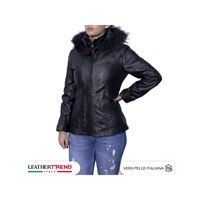 Leather Trend Italy venezia - giacca donna in vera pelle colore nero morbida