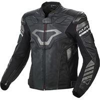 Macna giacca moto pelle racing Macna tracktix nero