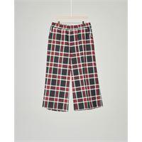 Kocca Girl pantalone cropped a quadri neri e rossi 10-16 anni