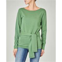 Emme Marella maglia colore verde brillante in viscosa con cintura in vita abbinata