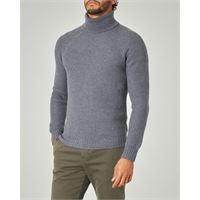 Ashki.i dolcevita grigio a coste in lana merino finezza 7