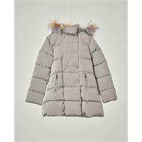 Elsy cappotto grigio con cappuccio e pelliccia staccabile 3-7 anni