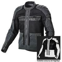 Macna giacca moto estiva Macna fluent night eye nero