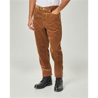 Carhartt pantalone carrot-fit color cammello in velluto
