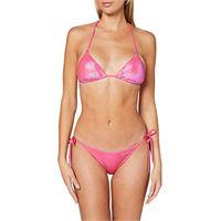 EMPORIO ARMANI swimwear triangle rem. Cups & brief w/bows bikini beachwear mermaid set, nero (nero 00020), 42 (taglia unica: small) donna