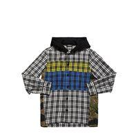 DIESEL KIDS camicia in cotone patchwork con cappuccio