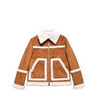 DSQUARED2 giacca in eco shearling e eco camoscio