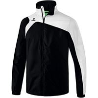 Erima club 1900 2.0, giacca all weather unisex bambini, nero/bianco, 116