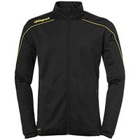 uhlsport stream 22 classic, giacca bambini, nero/giallo limone, 116