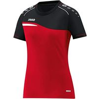 JAKO 6118 competition 2.0 - t-shirt donna, rosso/nero, 44